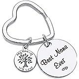 7RVZM Grandma Appreciation Gift for Best Nana Ever Keychain Mothers Day Gift Birthday Jewelry Nana Keychain