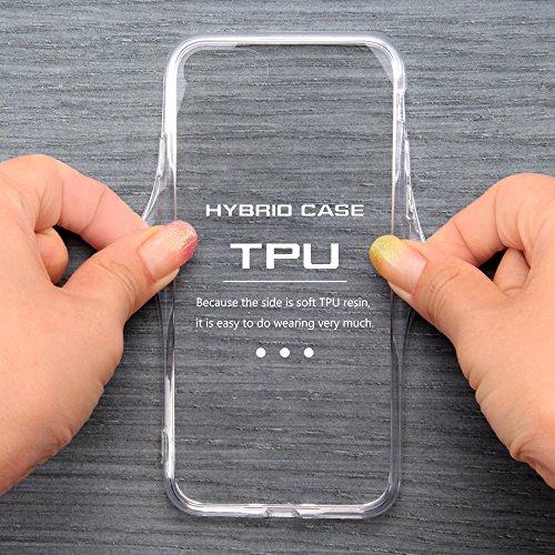 レイ・アウト iPhone7ケース ハイブリッドケース(TPU + ポリカーボネイト) クリア RT-P12CC2/C