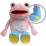 キックル ぬいぐるみ(M) カエル 高さ22cm ピンク