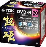 TDK 録画用DVD-R CPRM対応 16倍速対応 ホワイトワイドプリンタブル キズや指紋ヨゴレに強いスーパーハードコート・ディスク 「超硬」シリーズ 20枚パック DR120HCDPWC20A