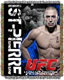 UFC George St. Pierre 48-Inch-by-60-Inch Acrylic Tapestry Throw by The Northwest Company by Northwest [並行輸入品]