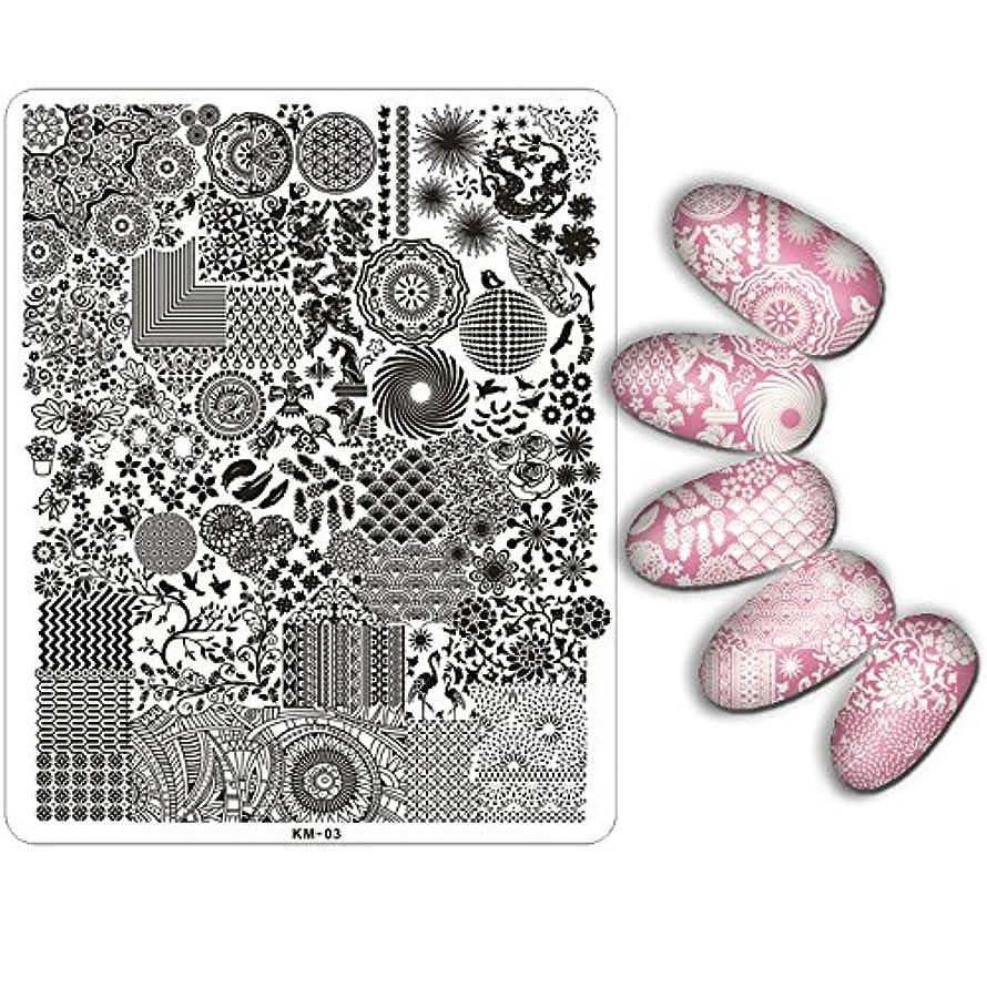 洗練されたノート熱望する[ルテンズ] スタンピングプレートセット 花柄 ネイルプレート ネイルアートツール ネイルプレート ネイルスタンパー ネイルスタンプ スタンプネイル ネイルデザイン用品