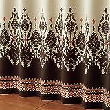(ニッセン) nissen 遮光カーテン アジアン リゾート ダマスク柄 ブラウン系 幅100 × 長さ200cm × 2枚