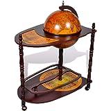 vidaXL Globe Bar Wine Stand Antique Globe Bar Cabinet Drinks Trolley Wine Storage Alcohol Serving Cart Table Eucalyptus Wood