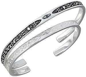 SAINTS セインツ コプラ アラベスク シルバー ペア バングル ダイヤモンド SSB11-69M-S-P