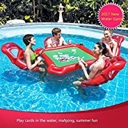 Inflatable Water Toys Poker Game Adult Swim Ring Mounts Inflatable Floating Bed Floating Row Toys
