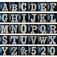 写真の小道具英語のアルファベットデコレーションライトLEDナイトライトクリスマスクリエイティブ誕生日ギフトのモデリングライトを提案 (Color : W)