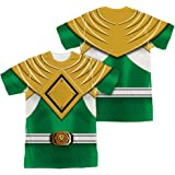 Mighty Morphin Power Rangers Green Ranger (Front Back Print) Mens Shirt XL