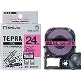 キングジム テープカートリッジ テプラPRO 強粘着 24mm ピンク SC24PW