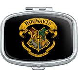 Harry Potter Ilustrated Hogwart's Crest Rectangle Pill Case Trinket Gift Box