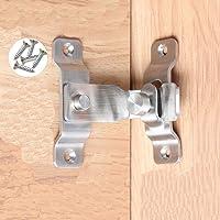 フリップドアラッチ、90度頑丈なステンレス鋼バーゲートラッチ安全ドアロック、ブラシ仕上げ