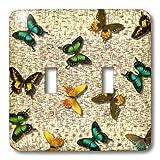 3drose LLC lsp _ 27904_ 2地球Butterfliesダブル切り替えスイッチ