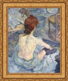 (v10 – 15 – 16 ) Henri de toulouse-lautrec woman at_彼女_ Toil_フレーム_キャンバス_ Giclee_プリント_ w22 _ X h27 +[Large] #11-Gold V10-16K-MD535-01