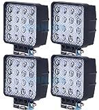 (スタンセン) Stansen LEDワークライト オフロード防水作業灯 CREE製 48W 16連10-30VDC対応(12V/24V兼用)4個セット [並行輸入品]