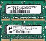Micron PC2-5300S (DDR2-667) 1GB x 2枚組み 合計2GB SO-DIMM 200pin ノートパソコン用メモリ 動作保証品【中古】