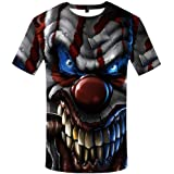 KYKU Unisex 3D Printed Creative Graphic Short Sleeved Soft T Shirt for Men Tee