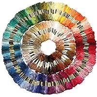 綿 25番刺繍糸 DMCと同じ色番号 全440色セット クロスステッチ、ミサンガ等に最適 (447本) [並行輸入品]
