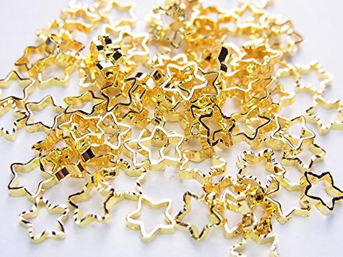 キリストスキャンダルそれる【jewel】ネイルパーツ ゴールド スター 10個 星形 金属パーツ