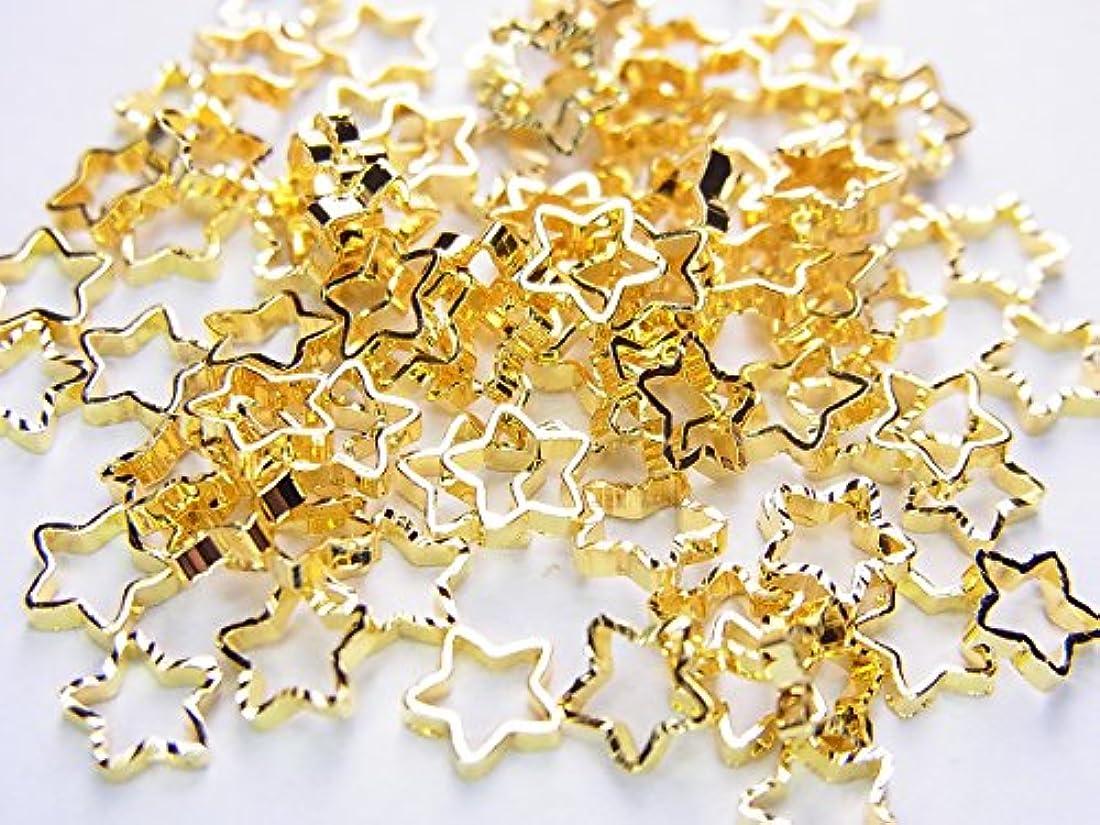 アイザックうめき打撃【jewel】ネイルパーツ ゴールド スター 10個 星形 金属パーツ