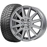 【2016年製】国産スタッドレスタイヤ(155/65R14)+ホイール(14インチ) 4本SET(1台分)■Aセット:D.O.S RS-12[シルバー]