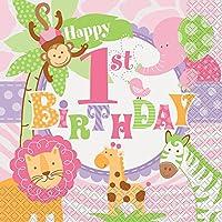 ピンクサファリ 最初の誕生日 ピンク 42552