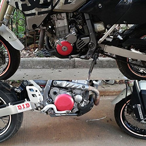 鈴木DRZ400 DR-Z400S DRZ400SMと川崎KLX400用ignition Clutch Case Covers Guards Kit(赤)