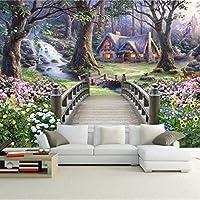 Wxmca 現代の壁紙ヨーロッパファンタジー世界の森の庭カスタム写真壁紙壁画キッズルームの背景壁画壁紙-400X280Cm