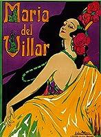 Maria Del Villar Theaterヴィンテージポスター 12 x 18 Art Print LANT-41262-12x18