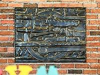 壁の装飾/鉄3次元の壁の装飾レトロスタイルの装飾ペンダント産業スタイル (三 : Trains)
