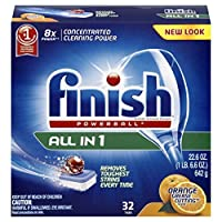 Finish All In 1 Powerball, Orange 32 Tabs, Dishwasher Detergent Tablets