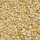 天然石 玉石砂利 1-2cm 60kg ハニーイエロー (ガーデニングに最適 黄色砂利)