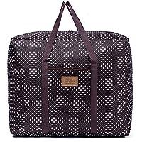 [QIFENGDIANZI]旅行バッグ スーツケース用 大容量 片づけ 引っ越しバッグ 運搬 防水防塵 湿気防止 カビ対策 水洗い 通気性抜群 コーヒー 50*40*25CM