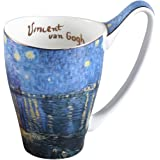 Ceramic Mug Funny Cup, Milk Cup Tea or coffee Cups ceramic 16 oz Mugs for Kitchen, Stylish Art van gogh cups porcelain Starry