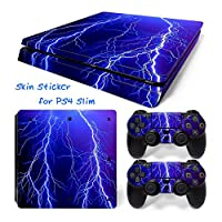 Hzjundasi 1303# Body Sticker Decal Skin ステッカーデカールスキン For Playstation 4 PS4 Slim Console+Controllers
