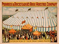Minstrelの外部ビューの大きなキャンバスTheatreポスター 24 x 36 Giclee Print LANT-4245-24x36