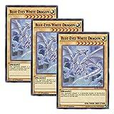 【 3枚セット 】遊戯王 英語版 MVP1-EN055 Blue-Eyes White Dragon 青眼の白龍 (ウルトラレア) 1st Edition