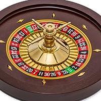 "Bello Games Collezioni–Bello Professional 24Kゴールドplated-solidマホガニーRoulette Wheelイタリアから215/ 8"""