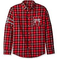 シカゴブルズWordmark基本的なフランネルシャツ