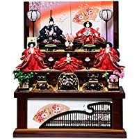 【雛人形収納飾】大三五親王芥子官女:沙桜雛:伏見屋監修【雛人形】【親王飾】