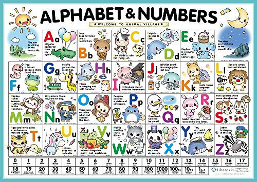 Liberaxis『Alphabet&Numbers:おふろで学べる英語ポスター』