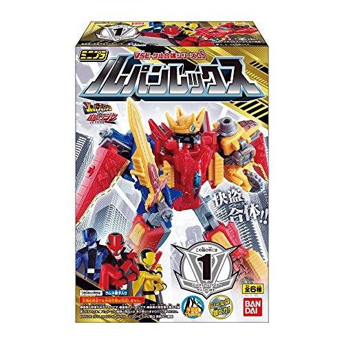 Bandai Mini-Pla Lupinranger VS Pataranciar Lupin REX 12pcs BOX Candy Toy Japan