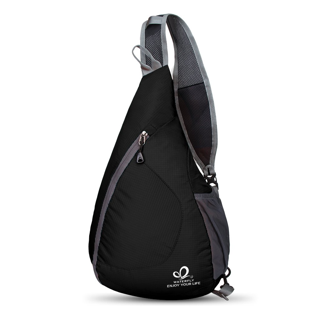 5d4d20ded7e5 WATERFLY(ウォーターフライ) ワンショルダーバッグ 斜めがけバッグ ボディバッグ 軽量 折り畳み 大容量 メンズ レディース