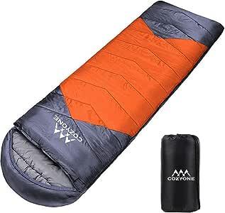 Cozyone 寝袋 シュラフ 封筒型 軽量 保温 210T防水 コンパクト アウトドア キャンプ 登山 車中泊 防災用 丸洗い可能 快適温度10度-25度 1kg春用 夏用 秋用