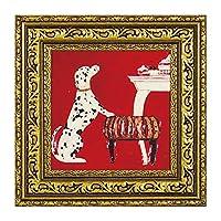 アート 壁掛け インテリア 絵画 犬 額入り 玄関 ドミンゲス プチ(S) DO-04323
