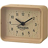 【Amazon.co.jp 限定】リズム(RHYTHM) 置き時計 ブラウン 7x8.7x3.8cm オリジナル 4SE555AZ06
