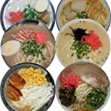 九州とんこつラーメン 6種 6食入 //長浜屋台 博多醤油 福岡和風 長崎魚介 久留米屋台 筑豊味噌