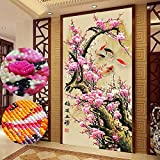 Trayosin Large 5D Diamond Painting Kits for Adults Full Drill 20x39.4Inch /50x100CM Crystal Embroidery Cross Stitch Home Wall