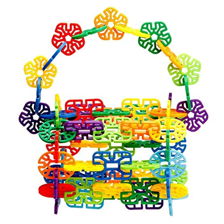 木製ブロックセット – 100ブロック8色と5で図形(カラー: 200 )