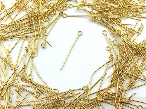 9ピン ゴールド 3.0cm 100本 金具 アクセサリーパーツ ハンドメイド 材料 パーツ