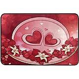 Romantic Red Heart Door Mats Mother's Valentine's Day Floor Mat Indoor Outdoor Entrance Bathroom Doormat Non Slip Washable Fl